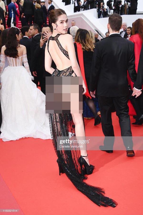 Ngọc Trinh gây sốc khi ăn vận táo bạo tại thảm đỏ LHP Cannes 2019 - Ảnh 3.