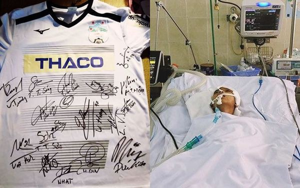 Áo đấu của CLB HAGL được đấu giá để cứu mạng cậu bé 9 tuổi - Ảnh 1.