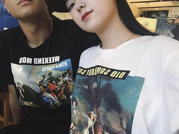 Hot girl Hà Trang đăng ảnh mặc áo đôi, tình tứ với Hà Đức Chinh - Ảnh 1.