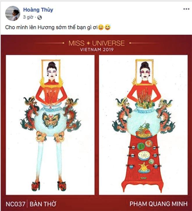 """Sốc trước ý tưởng thiết kế trang phục """"Bàn thờ"""" giúp Hoàng Thùy dự thi Hoa hậu Hoàn vũ thế giới - Ảnh 2."""