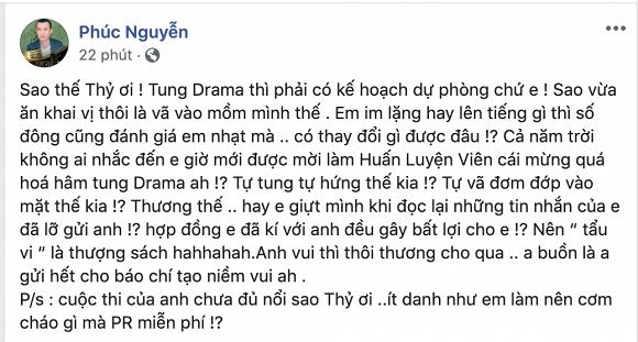 Ông bầu Phúc Nguyễn mắng Mâu Thủy: Tự tung drama, nhạt nhòa và tự vả mặt mình - Ảnh 1.