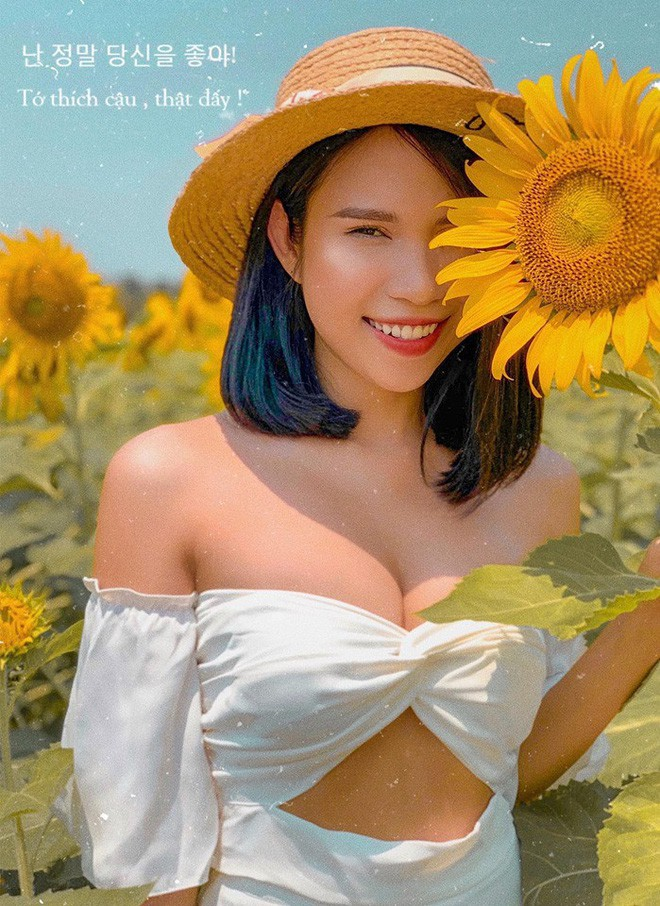 """Lướt mỏi tay loạt ảnh check-in """"thật là vàng tươi"""" của giới trẻ ở vườn hoa hướng dương mới xuất hiện ngay gần Hà Nội, không đi nhanh kẻo phí cả mùa hè - Ảnh 17."""