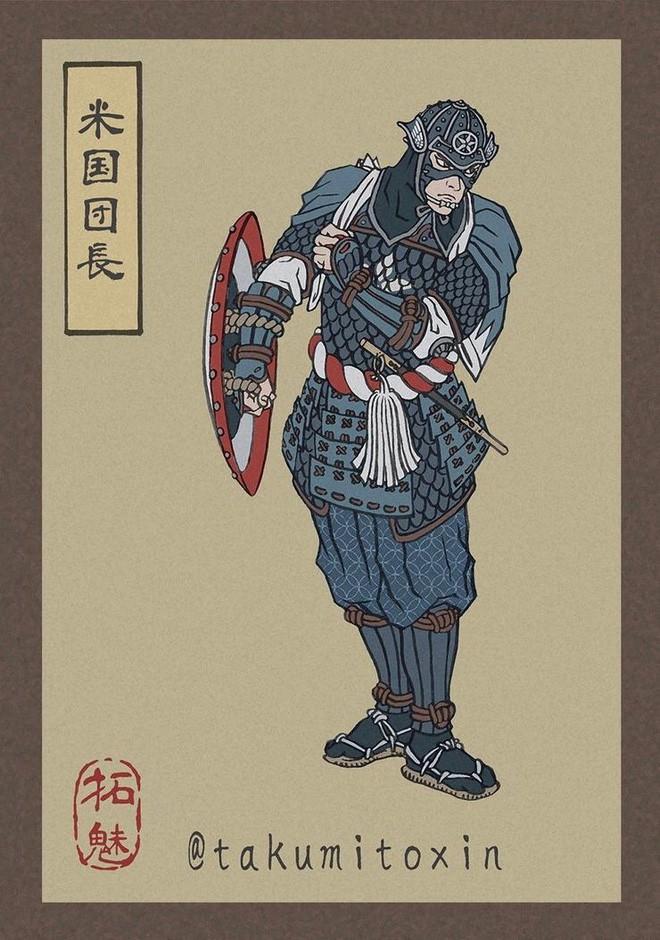Nghệ sĩ Nhật Bản tái hiện các siêu anh hùng Marvel dưới phong cách nghệ thuật dân gian thời Edo - Ảnh 2.