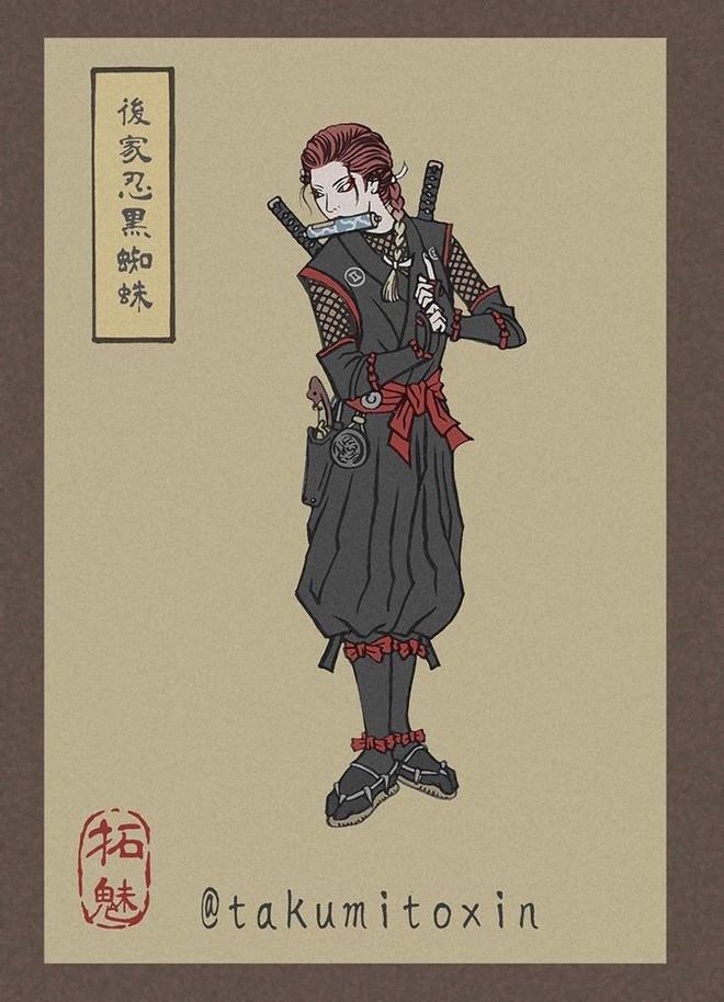 Nghệ sĩ Nhật Bản tái hiện các siêu anh hùng Marvel dưới phong cách nghệ thuật dân gian thời Edo - Ảnh 4.