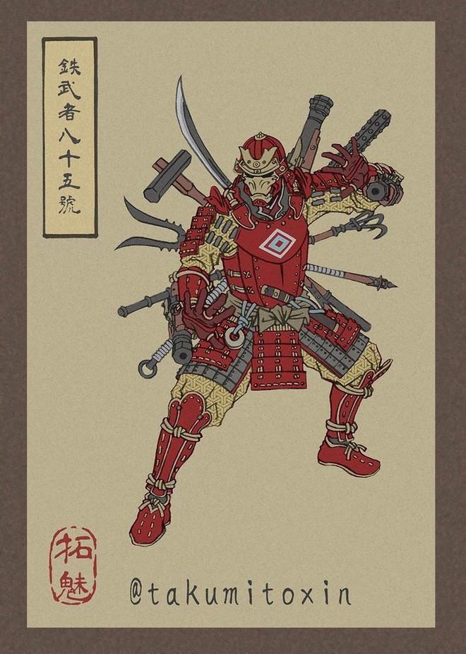 Nghệ sĩ Nhật Bản tái hiện các siêu anh hùng Marvel dưới phong cách nghệ thuật dân gian thời Edo - Ảnh 1.