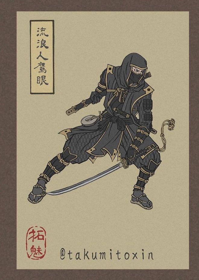 Nghệ sĩ Nhật Bản tái hiện các siêu anh hùng Marvel dưới phong cách nghệ thuật dân gian thời Edo - Ảnh 5.