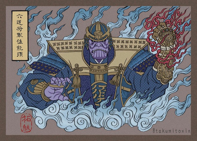 Nghệ sĩ Nhật Bản tái hiện các siêu anh hùng Marvel dưới phong cách nghệ thuật dân gian thời Edo - Ảnh 6.