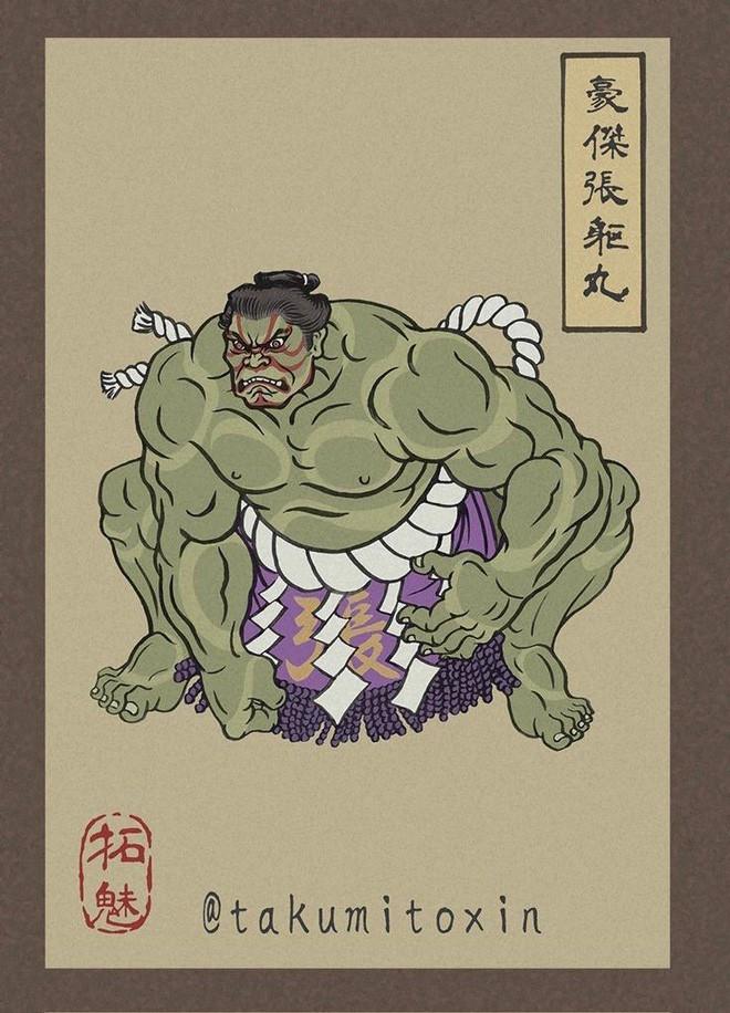 Nghệ sĩ Nhật Bản tái hiện các siêu anh hùng Marvel dưới phong cách nghệ thuật dân gian thời Edo - Ảnh 8.
