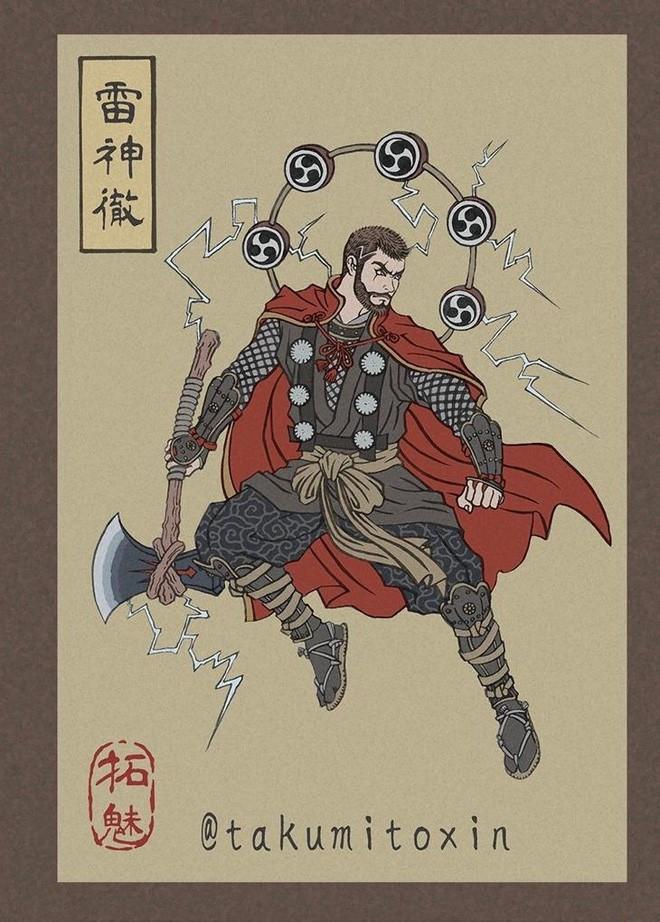 Nghệ sĩ Nhật Bản tái hiện các siêu anh hùng Marvel dưới phong cách nghệ thuật dân gian thời Edo - Ảnh 9.