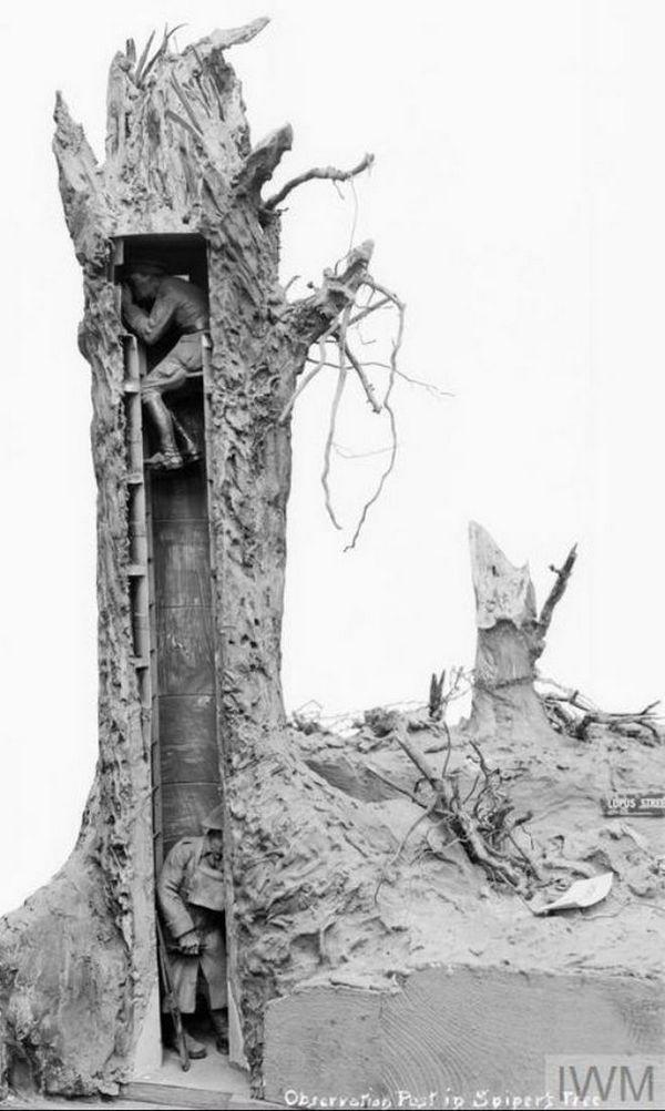 Đây là phương pháp ngụy trang độc đáo cho chòi canh trong Thế chiến thứ Nhất - Ảnh 4.