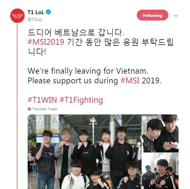 LMHT: Team SKT T1 đã tới sân bay, thẳng tiến Việt Nam khởi đầu hành trình chinh phục MSI 2019 - Ảnh 1.