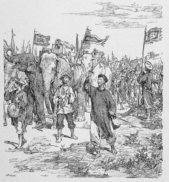Cách tuyển voi oai hùng trong sử Việt: 500 lính múa đao xông tới, voi Chúa Nguyễn vẫn đứng yên - Ảnh 4.