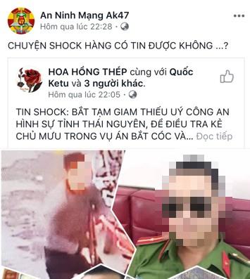 CA Thái Nguyên nói về tin đồn thiếu úy là chủ mưu vụ nữ sinh giao gà ở Điện Biên - Ảnh 1.