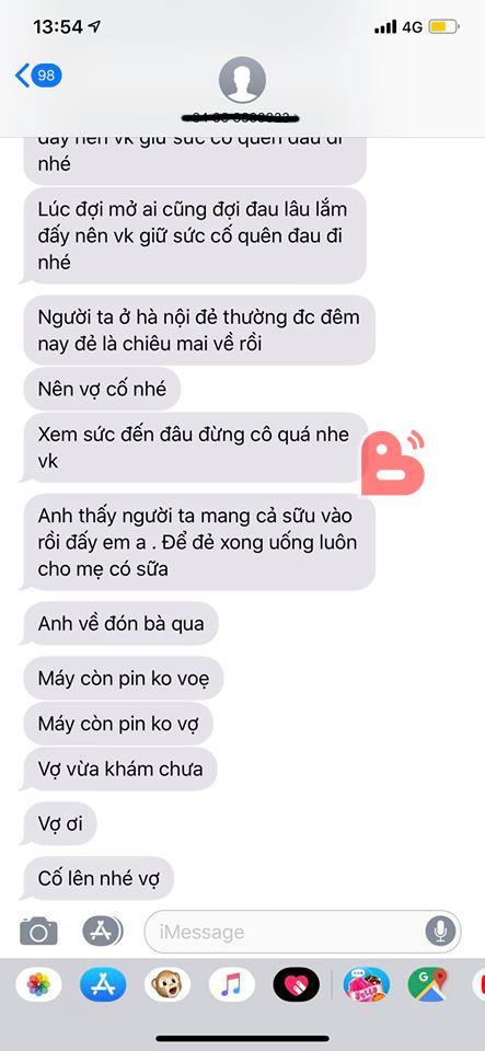 Chờ ngoài phòng đẻ, chàng trai gửi một loạt tin nhắn khiến vợ vui… phát khóc - Ảnh 2.