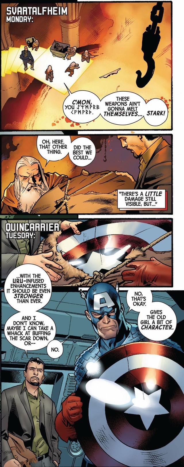 10 chiếc khiên danh bất hư truyền đã đồng hành cùng các phiên bản Captain America trong lịch sử truyện tranh - Ảnh 3.