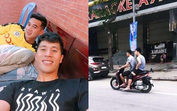 Cộng đồng mạng: Cần phạt nguội hai ngôi sao của tuyển Việt Nam không đội nón bảo hiểm - Ảnh 1.