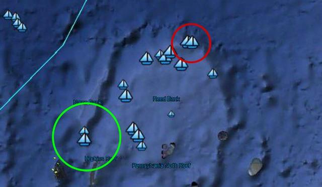 Hình ảnh vệ tinh vụ đâm rồi bỏ trốn: TQ nói dối trắng trợn về việc tàu TQ bị 7-8 tàu Philippines bao vây - Ảnh 1.