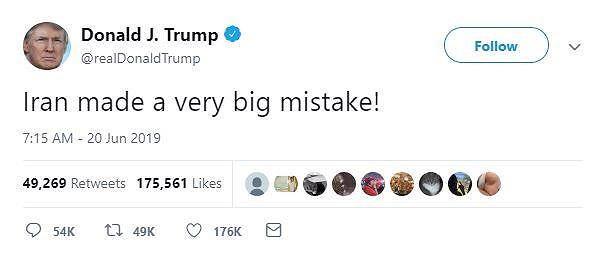 Ông Trump: Iran đã phạm sai lầm lớn - Ảnh 1.
