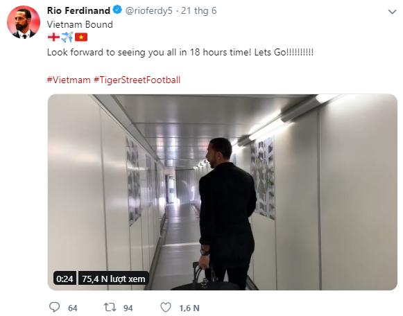 Rio Ferdinand háo hức, gửi thông điệp đặc biệt đến Việt Nam - Ảnh 1.