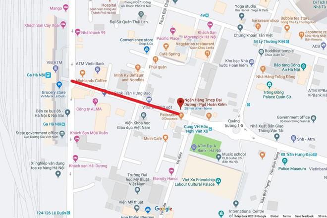 Ảnh: Rào chắn đường Trần Hưng Đạo để xây nhà ga ngầm tuyến Metro Nhổn - Ga Hà Nội - Ảnh 10.