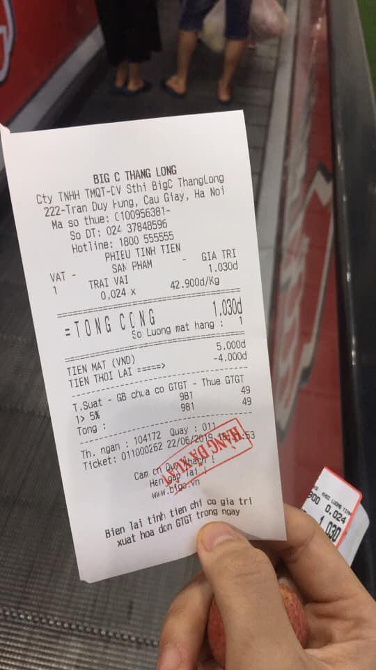 Thanh niên thánh lầy vào siêu thị mua đúng 1 quả vải với giá 1 nghìn đồng khiến MXH dậy sóng - Ảnh 2.