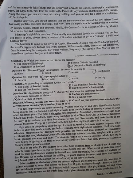 Cập nhật gợi ý đáp án môn tiếng Anh THPT Quốc gia 2019 tất cả 24 mã đề - Ảnh 14.