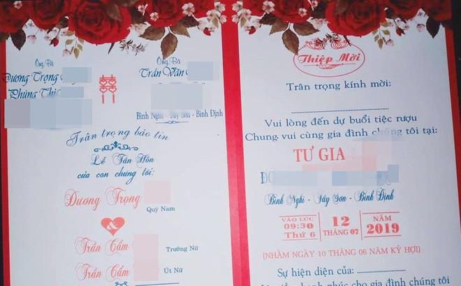 Cô giáo 'chế' thiệp chú rể cưới hai chị em ruột ở Bình Định: Tôi rất hối hận - Ảnh 1.