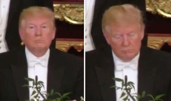 Tranh cãi chuyện ông Trump liệu có ngủ gật khi Nữ hoàng Elizabeth phát biểu nóng mạng xã hội - Ảnh 2.