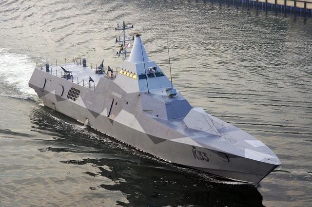 Tàu tên lửa tàng hình Antares RA Nga sao chép Visby Thụy Điển? - Ảnh 2.