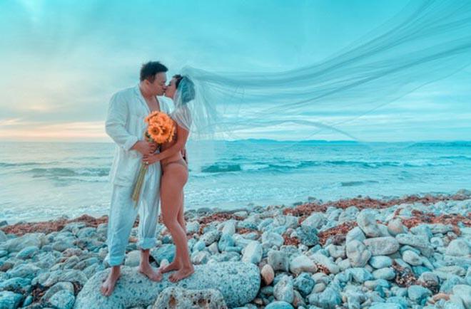 Ảnh cưới mặc bikini nóng bỏng, táo bạo của 3 mỹ nhân showbiz Việt - Ảnh 11.