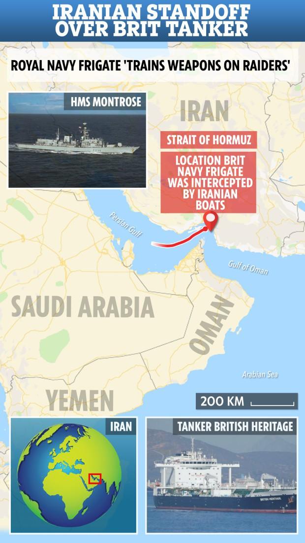 Tàu chiến Anh chĩa pháo cảnh cáo 5 tàu tấn công nhanh Iran - IRGC ra tuyên bố phản bác sắc lạnh - Ảnh 5.