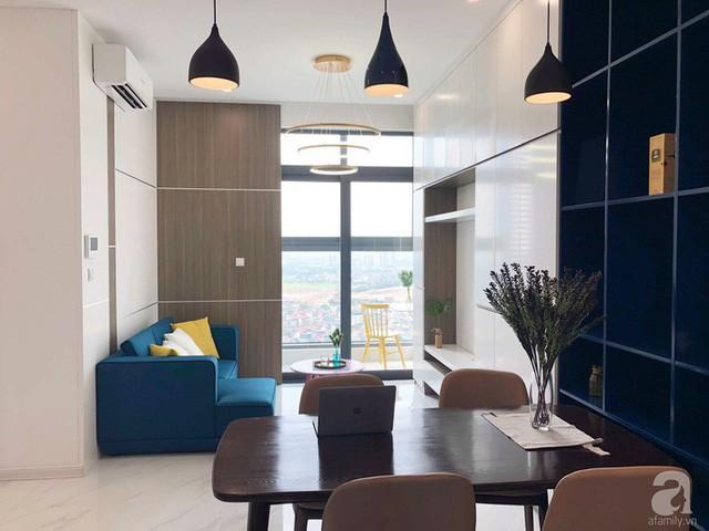 Căn hộ 96m² trên tầng 32 ở Hà Nội đơn giản nhưng vẫn hút ánh nhìn nhờ cách phối màu trẻ trung - Ảnh 1.