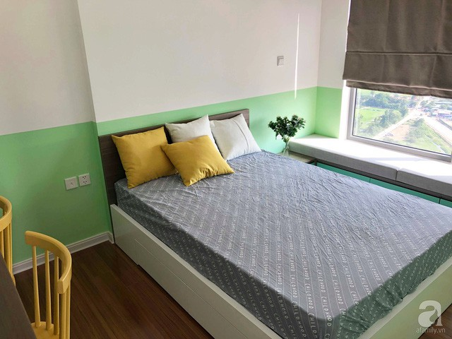 Căn hộ 96m² trên tầng 32 ở Hà Nội đơn giản nhưng vẫn hút ánh nhìn nhờ cách phối màu trẻ trung - Ảnh 17.