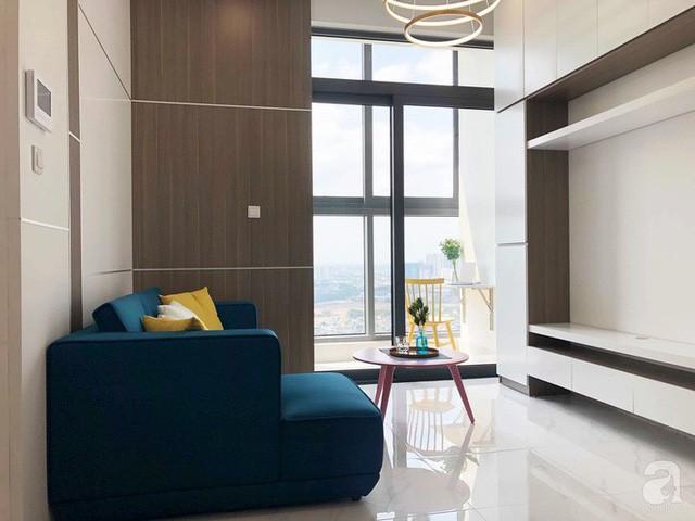 Căn hộ 96m² trên tầng 32 ở Hà Nội đơn giản nhưng vẫn hút ánh nhìn nhờ cách phối màu trẻ trung - Ảnh 3.