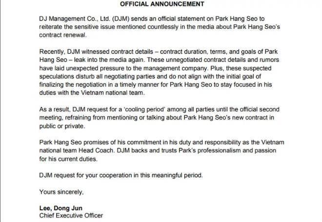 Thực hư việc HLV Park Hang-seo và VFF chính thức tái ký hợp đồng vào tháng 11/2019 - Ảnh 2.