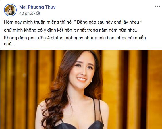 Sự thật chuyện Mai Phương Thuý sắp tổ chức đám cưới với bạn trai giấu kín - Ảnh 1.