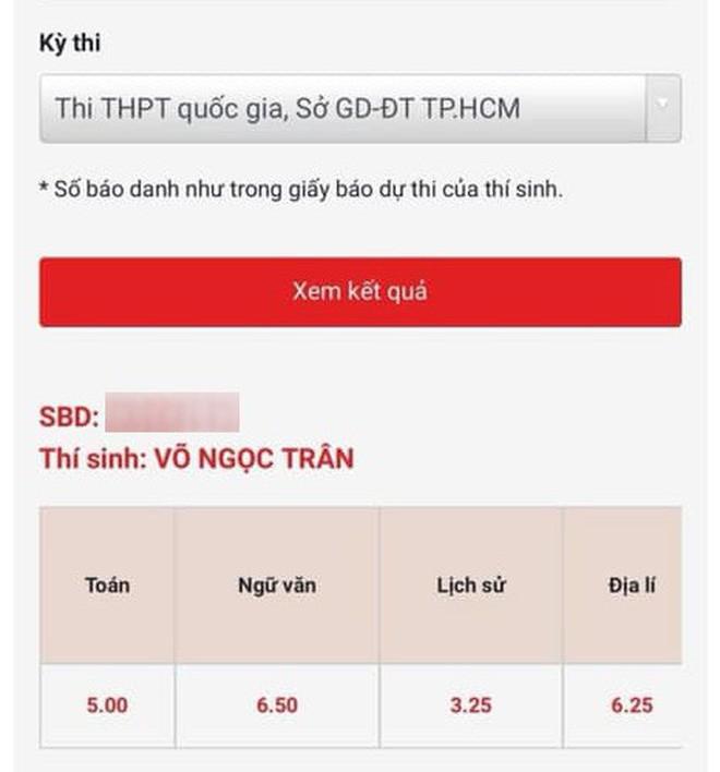 Xôn xao bảng điểm thi THPT Quốc gia của Võ Ngọc Trân - nữ sinh hot nhất Sài Gòn: HSG Văn nhưng chỉ được 6.5 điểm, tiếng Anh 4.8? - Ảnh 2.