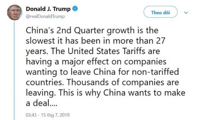Trung Quốc lên tiếng sau khi Tổng thống Mỹ  đe dọa gia tăng sức ép thương mại - Ảnh 2.