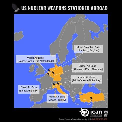 Báo cáo của NATO làm lộ số lượng và vị trí vũ khí hạt nhân Mỹ ở Châu Âu - Ảnh 1.