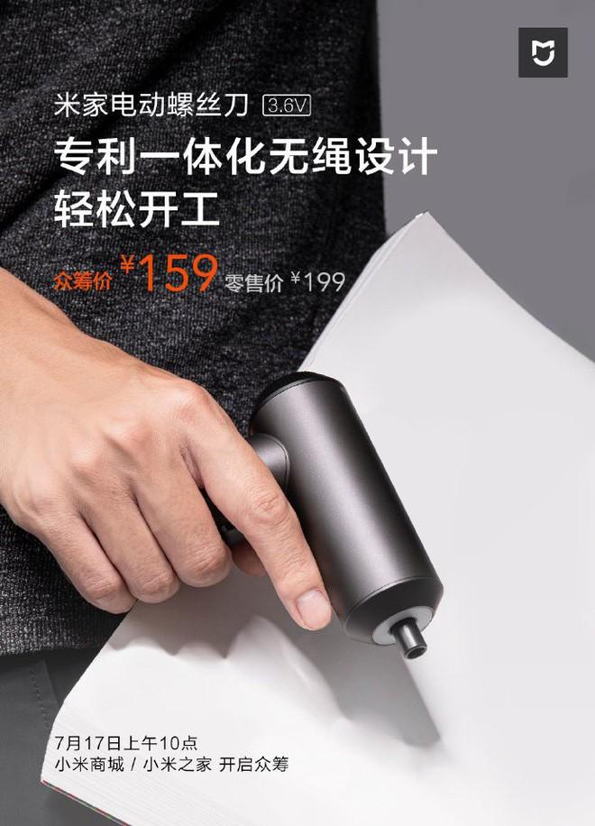 Xiaomi ra mắt tô vít điện, 12 đầu vít, thiết kế tối giản, pin 2.000mAh, giá chỉ 535 ngàn - Ảnh 4.