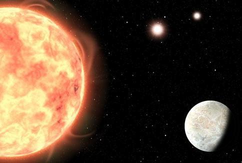 Phát hiện trái đất đá có cùng lúc 3 mặt trời - Ảnh 1.