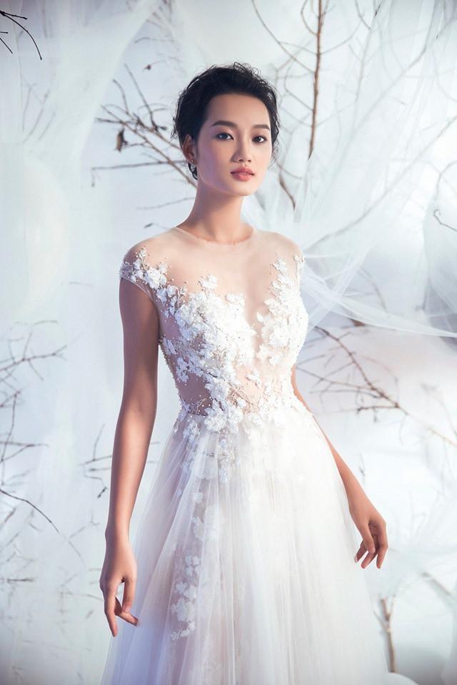 Á quân The Face Quỳnh Anh và Thu Hiền đọ sắc khi mặc váy cưới - Ảnh 4.