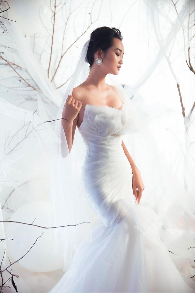 Á quân The Face Quỳnh Anh và Thu Hiền đọ sắc khi mặc váy cưới - Ảnh 6.