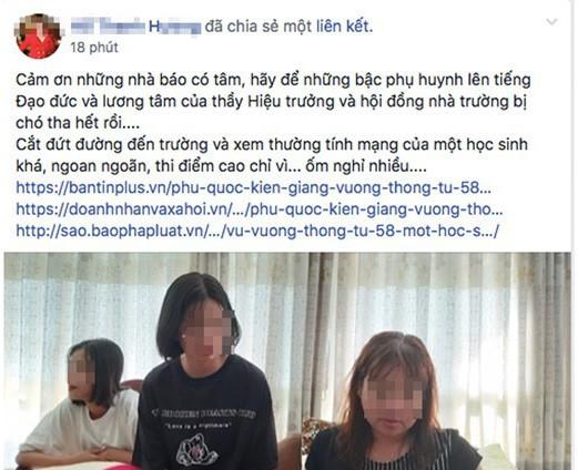 Nữ hoàng ngọc trai ở Phú Quốc lên mạng chửi hiệu trưởng: Con gái nhắn tin kêu xóa status nên tôi chỉnh lại - ảnh 1