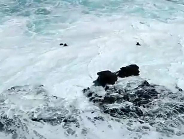 Khoảnh khắc thót tim: Bất chấp cảnh báo, cặp đôi vô tư chụp ảnh trên vách đá rồi bị sóng đánh sấp mặt, chới với dưới nước kêu cứu - Ảnh 4.