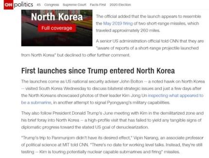 Triều Tiên phóng tên lửa: Dấu chân TT Trump ở Bàn Môn Điếm cũng bị cuốn theo ra biển? - Ảnh 1.
