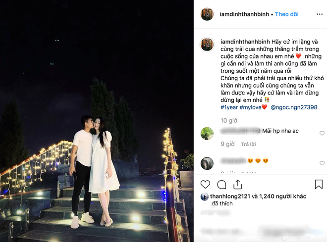 Sao U23 Việt Nam tái hợp bạn gái Hoa khôi Kinh Bắc: Còn yêu đâu ai rời đi - Ảnh 1.