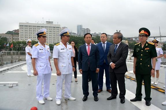 Tàu 016-Quang Trung thăm xã giao Liên bang Nga - Ảnh 10.