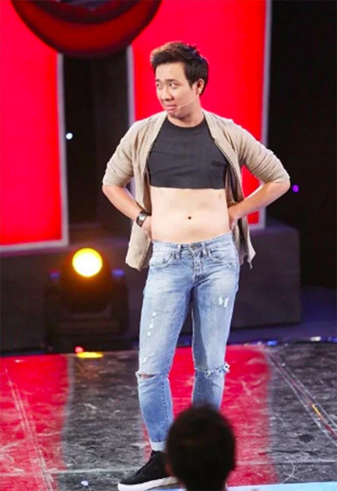 Những lần cởi áo khoe bụng hài hước của MC Trấn Thành - Ảnh 8.