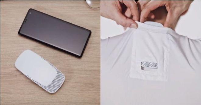 Phát ngốt vì trời hè 40 độ? Tham khảo ngay điều hòa mini nhét trong áo của Sony - Ảnh 1.